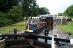 Leeds and Liverpool Canal: Field Staircase Locks Nos 16 to 18 - June 2000.