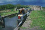 Leeds & Liverpool - Rufford Branch: German's Lock No 5 Lorna-Ann in - April 1996.