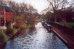 The Trent and Mersey Canal just outside Stone - Dec 2001.